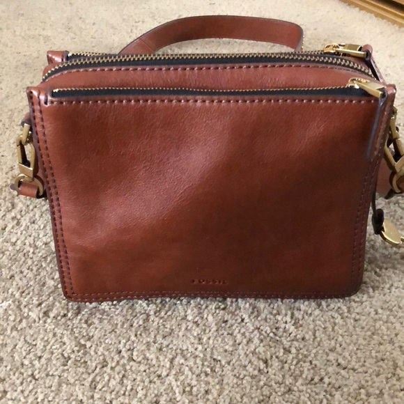 Fossil Handbags - Brown Fossil Campbell Crossbody a15cfd1e3db9e